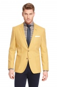 'Havison' | Slim Fit, Cotton-Cashmere Sport Coat by BOSS Желтый 36R